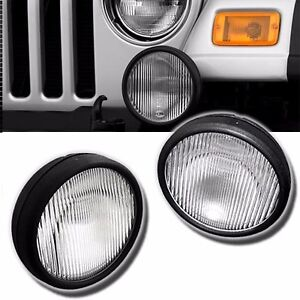 Fl7091 For 03 06 Jeep Wrangler Pair Driving Fog Lights Bumper Lamps