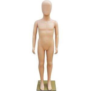 Mn 252 Unisex Child Full Size Plastic Mannequin 4 3 25 With Abstract Egg Head