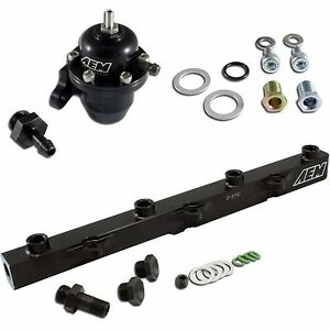 Aem 2000 2005 Honda S2000 Adjustable Fpr Fuel Pressure Regulator High Flow Rail