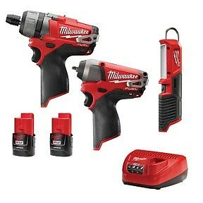 Milwaukee 12v 1 4 Screwdriver Impact Wrench With 3 Pc Light Fuel Kit