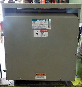 1 Used Siemens 1b1y050 Single Phase Distribution Dry Type Transformer 50 0 Kva