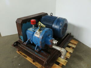 Rotojet High Pressure Pitot Tube Pump Model R11 2x2 With Base And Motor