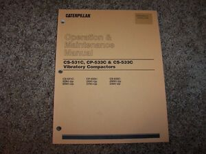 Cat Caterpillar Compactor Cs 531c 533c Cp Owner Operation Maintenance Manual