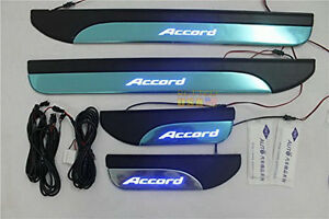 4pcs Door Stainless Door Sill Plate Guard For Honda Accord Mk9 2013 2014 2015 Us