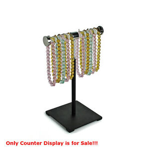 New Clear Single tier Adjustable Necklace bracelet Counter Display W Accents