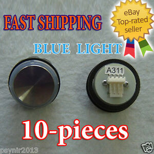10pcs Elevator Push Button Switch Push Button Blue Light Elevator Parts