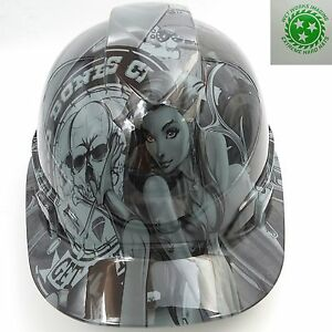 Hard Hat Custom Hydro Dipped Osha Approved Bad Bones Club New Hard Hat