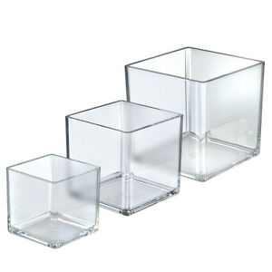 New Clear Styrene 4 5 6 Dia Deluxe Cube Bin Set With 3 16 Thick