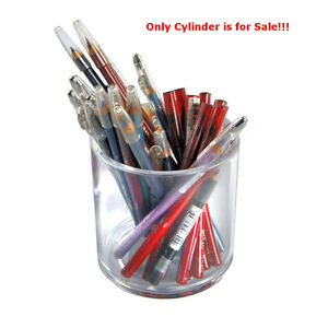 Case Of 4 New Clear Styrene Crystal Deluxe Cylinder 4 h X 4 d