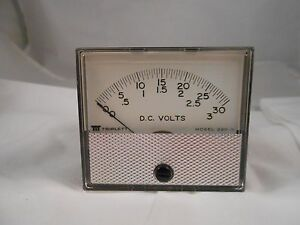 220g 0 3 030vdc Triplett Dc Volts Dual Meter New Old Stock 2 3 4
