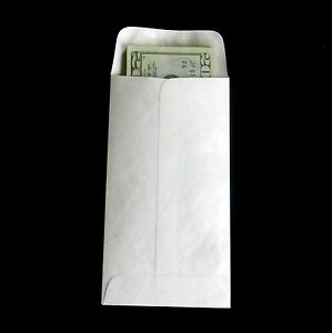 3 1 2 X 6 1 2 Tyvek Envelopes 7 Coin 50 lot