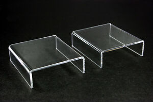 12x Clear Acrylic Riser Stand Counter Jewelry Display 4 l X 1 3 16 h X 3 1 2 d