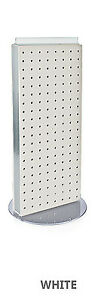 New Retails White Non revolving Pegboard Counter Display 8 w X 20 h