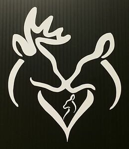 Buck Doe Baby Deer Girl Decal Choose Colors Browning Child Family Country