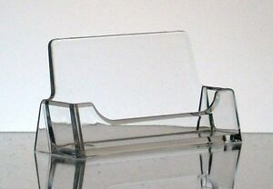 2 New Clear Acrylic Desktop Business Card Display Holders T z Tagz Style