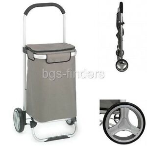 Shopping Bag Cart Foldable Tote Trolley Grocery Rolling Luggage Dolly Aluminum