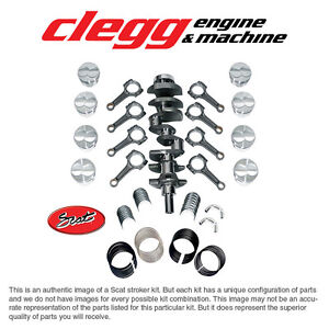 Ford 302 331 Scat Stroker Kit Forged flat pist I beam Rods