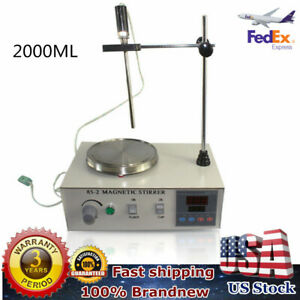 2000ml Hotplate Mixer Magnetic Stirrer With Heating Plate 85 2 110v 2400rpm min