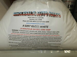 5 Lb New Wet Look Gloss White Tgic Exterior Super Durable Powder Coat Paint