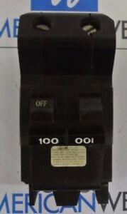 Nb2100 Fpe Federal Pacific 2 Pole 100 Amp 240vhump Bolt On Circuit Breaker