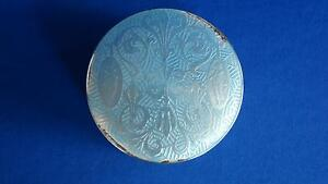 Antique Sterling Guilloche Enamel Box