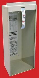 5 lb Surface Mount Fire Extinguisher Cabinet Metal W glass Break Rite Bar