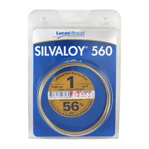 Lucas Milhaupt Silvaloy 560 56 Silver Solder Brazing Alloy 1 Oz 98060