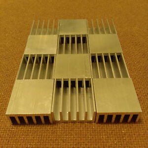 1 Inch Heat Sink Aluminum 1 X 1 X 0 5 Inches Low Thermal Resistance 12 Qty