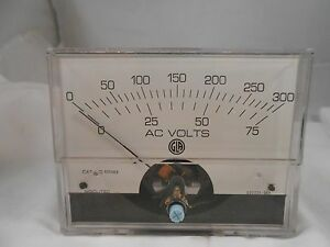 830669 Ac Volt Meter 0 300 0 75 New Old Stock 3 1 2
