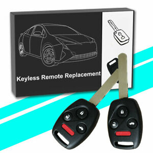 2 Remote Entry Key Fob For 2003 2004 2005 2006 2007 Honda Accord Oucg8d 380h A