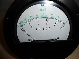 981 Ac Dc Ohms Meter 4 1 2 Round New Old Stock