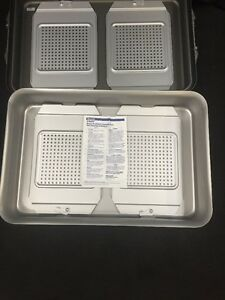 V Mueller Genesis Cd6 6b Retractor Sterilization Container 6 deep See Listing