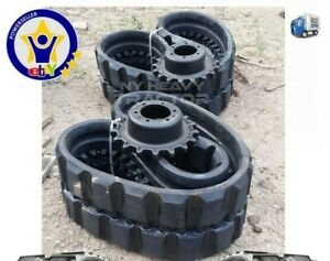 Two Rubber Tracks Sprockets For Bobcat T750 450x86x55 17 7 Staggard Block