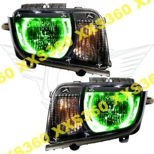 Oracle Halo Headlights Chevrolet Camaro 10 13 Non Rs Only Green Led