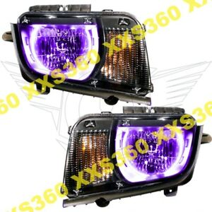 Oracle Halo Headlights Chevrolet Camaro 10 13 Non Rs Only Purple Led