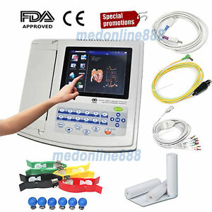 Touch Digital 12 Channel 12 Lead Ecg ekg Machine Electrocardiograph Software Usa