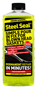 Steel Seal Head Gasket Sealer 16 Oz For 4 Cylinder Cars Free 2 3 Day Shipping