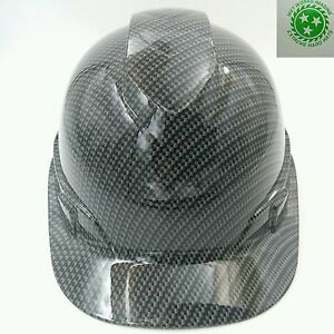 Custom Pyramex cap Style Hard Hat W ratchet Suspension Carbon Fiber Hydro Dip