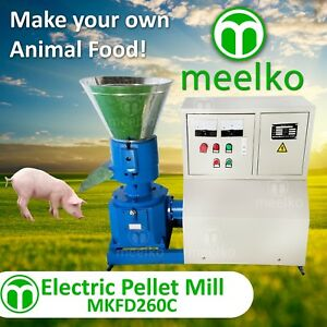 Pellet Mill 15kw 10 Die 3 Phase Stock Usa 6mm Special For Pork Food