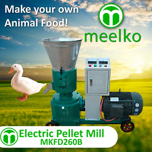 Pellet Mill 15kw Electric Engine 10 Die 3 Phase Usa Stock 3mm M Size Birds