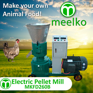 Pellet Mill 15kw Electric Engine 10 Die 3 Phase Usa Stock 4mm Chicken