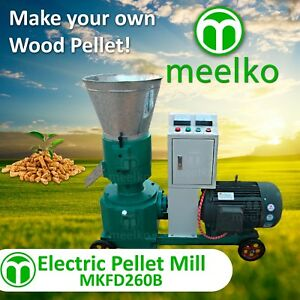 Pellet Mill 15kw Electric Engine 10 Die 3 Phase Usa Stock 8mm Wood