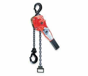 4zx48 Lever Chain Hoist 3300 Lb Lift 20 Ft