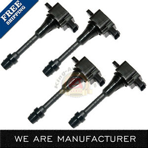 New 4 Pcs Ignition Coil For 2002 2003 2004 2005 2006 Nissan Sentra 1 8 Uf351