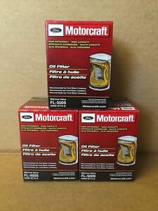 Set Of 3 Genuine Motorcraft Professional Engine Oil Filter Fl 500s Aa5z 6714 A