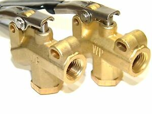 Carpet Cleaning 1 4 Brass Angle Valve For Wands Hoses Wp set Of 2