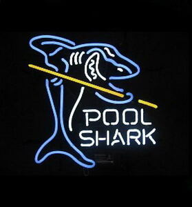 Pool Shark Neon Bar Sign
