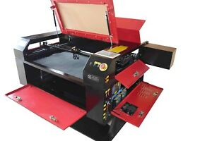 100w Co2 7050 Laser Engraving Cutting Machine engraver Cutter W rotary 20 28