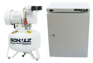 Schulz Dental Medical Air Compressor Oil Free 1hp Cabinet