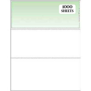 Blank Busines Checks 1000 case Green From Deluxe compare To Versacheck Form 1000